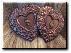 Copper Hair Barrette #132