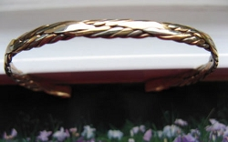Women's 7 Inch Copper and Brass Bracelet CB1M -  1/8 of an inch wide.