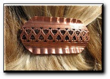 Copper Hair Barrette #4475C3