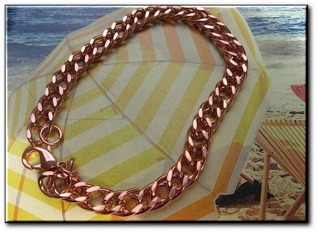 Men's 8 Inch Solid Copper Bracelet CB640G  - 5/16 of an inch wide