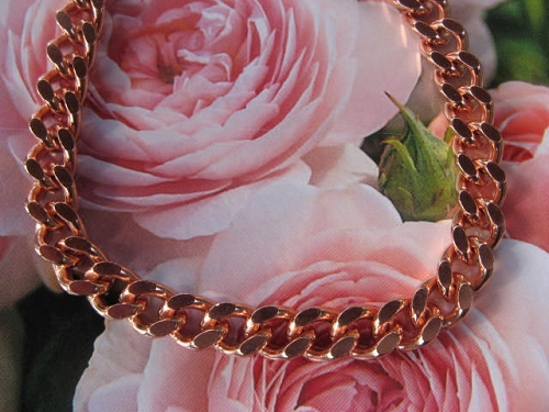 18 inch Length Solid Copper Chain CN644G - 5/16 of an inch wide