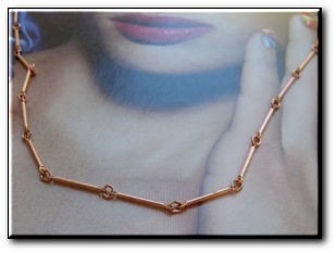 22 inch Length Solid Copper Chain CN650G - 1/16 of an inch wide