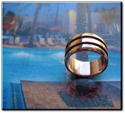 Copper Ring #CTR965 - Size 15 - 5/16 of an inch wide