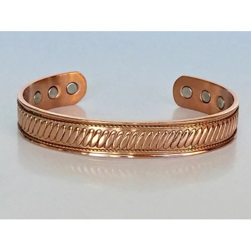 Men's 8 Inch Solid Copper Magnetic Cuff Bracelet CBM828- 1/2 an inch wide.