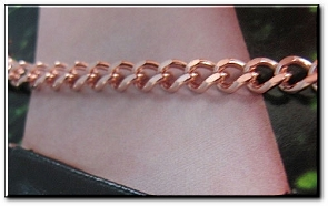 Solid Copper Anklet CA622G - 3/16 of an inch wide - Available in 8 to 12 inch lengths.