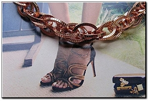 Solid Copper Anklet CA688G - 1/2 an inch wide - Available in 8 to 12 inch lengths