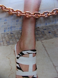 Solid Copper Anklet CA704G - 3/16 of an inch wide - Available in 8 to 12 inch lengths.