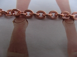 Solid Copper Anklet CA708G - 3/16 of an inch wide - Available in 8 to 12 inch lengths