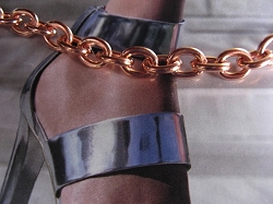 Solid Copper Anklet CA710G - 5/16 of an inch wide - Available in 8 to 12 inch lengths