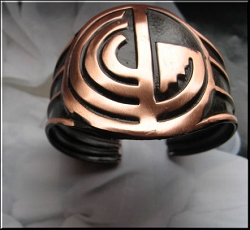 Women's 7 Inch Copper Cuff Bracelet CB3671C - 1 3/4 inches wide.