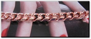 Ladies 6 1/2 Inch Solid Copper Bracelet CB624G  - 5/16 of an inch wide