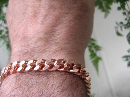 Men's 11 Inch Solid Copper Bracelet CB644G  - 5/16 of an inch wide