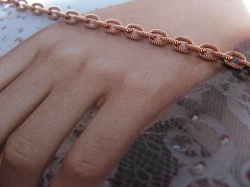 Solid Copper 6 1/2 Inch Bracelet CB714G - 1/8 of an inch wide