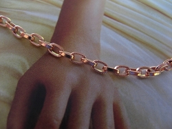Solid Copper 6 1/2 Inch Bracelet CB718G - 1/8 of an inch wide