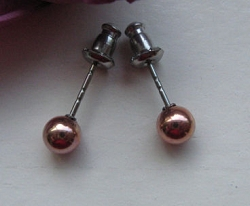 Copper 4mm Stud Earrings CE420