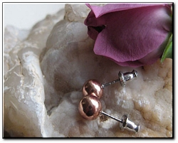 Copper 7mm Stud Earrings CE421
