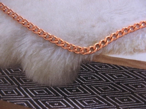 18 inch Length Solid Copper Chain CN108G - 1/8 of an inch wide