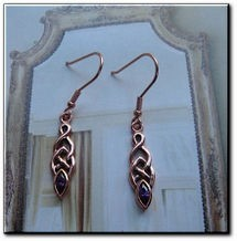 Solid Copper Celtic Knot Earrings #CTE862