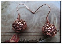 Solid Copper Celtic Shamrock Earrings #CTE890