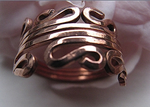 Copper Ring CR103 - Size 6 - 3/8 of an inch wide.