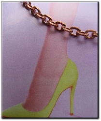 Solid Copper Anklet CA607G - 1/8 of an inch wide - Available in 8 to 12 inch lengths