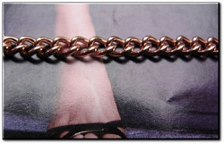 Solid Copper Anklet CA610G - 1/8 of an inch wide - Available in 8 to 12 inch lengths