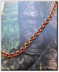 Solid Copper Anklet CA637G - 3/16 of an inch wide - Available in 8 to 12 inch lengths