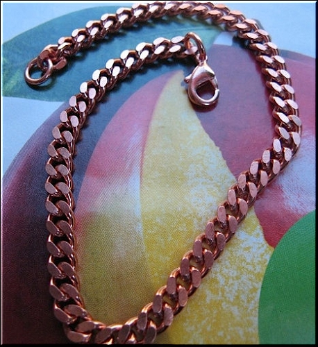Ladies Solid Copper 7 Inch Bracelet CB654G - 3/16 of an inch wide
