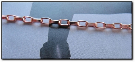 Solid Copper Anklet CA665G - 1/8 of an inch wide - Available in 8 to 12 inch lengths