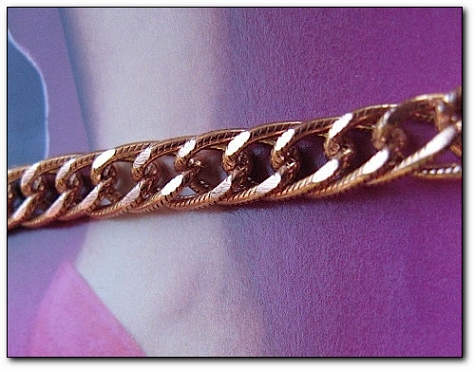 Solid Copper Anklet CA699G - 1/4 of an inch wide - Available in 8 to 12 inch lengths