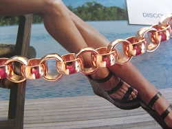 Solid Copper Anklet CA705G - 5/16 of an inch wide - Available in 8 to 12 inch lengths