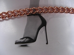 Solid Copper Anklet CA706G - 1/4 of an inch wide - Available in 8 to 12 inch lengths