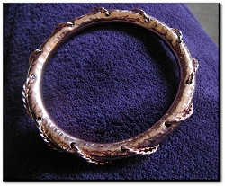 Copper Bangle Bracelet 1238E