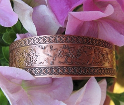 Women's 7 Inch Copper Cuff Bracelet CB1001C1 - 1/2 of an inch wide