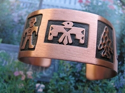 Women's 7 Inch Copper Cuff Bracelet CB138C - 1  inch wide.