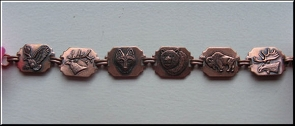 Solid Copper 6 1/2 inch Bracelet CB256 - 3/4 of an inch round.