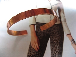 Women's 7 Inch Copper Cuff Bracelet CB259AR - 1/4 of an inch wide