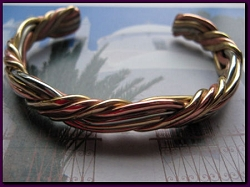 Women's 7 Inch Copper, Nickel And Brass Cuff Bracelet CB296M -  5/16 of an inch wide.