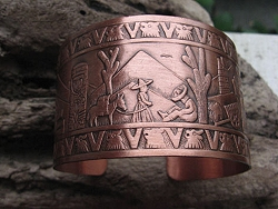 Women's 7 Inch Copper Cuff Bracelet CB4512C - 1 1/2 inches wide