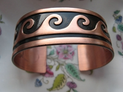 Women's 7 Inch Copper Cuff Bracelet CB5156 - 7/8 of an inch wide