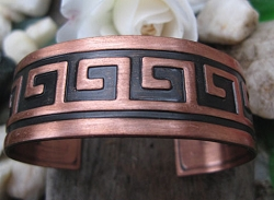 Women's 7 Inch Copper Cuff Bracelet CB5158 - 7/8 of an inch wide