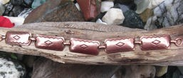 Solid Copper  7 1/2 inch Bracelet CB256 - 1/2 an inch wide.