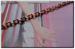 Solid Copper 6 1/2 Inch Bracelet CB607G - 1/8 of an inch wide