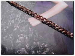 Solid Copper 7 1/2 inch Bracelet CB610G- 1/8 of an inch wide
