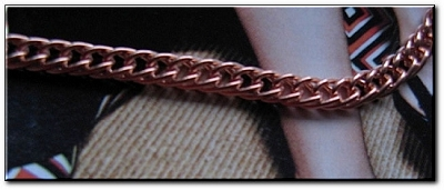 Ladies Solid Copper 6 1/2 Inch Bracelet CB676G - 3/16 of an inch wide