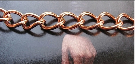 Men's 8 Inch Solid Copper Bracelet CB677G - 7/16 of an inch wide