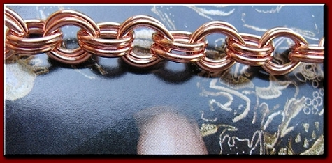 Solid Copper 8 1/2 Inch Bracelet CB682G - 5/16 of an inch wide