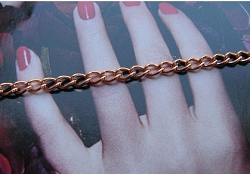Solid Copper 7 1/2 Inch Bracelet CB609G - 1/8 of an inch wide