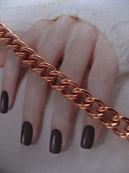 Ladies Solid Copper 6 1/2 Inch Bracelet CB706G - 1/4 inch wide