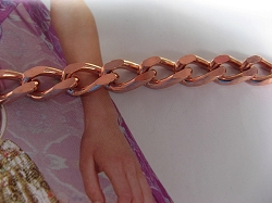 Ladies 6 1/2 Inch Solid Copper Bracelet CB711G  - 5/16 of an inch wide